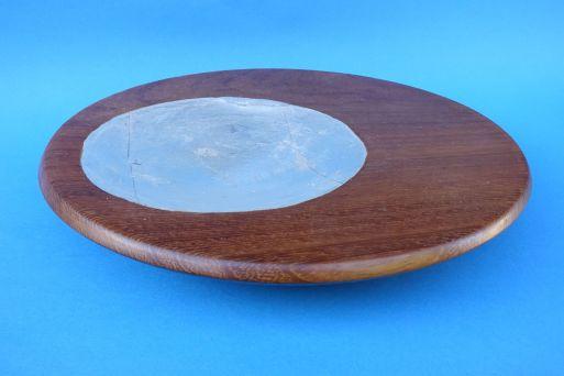 Borneo Teak mit Blattsilber D=25cm