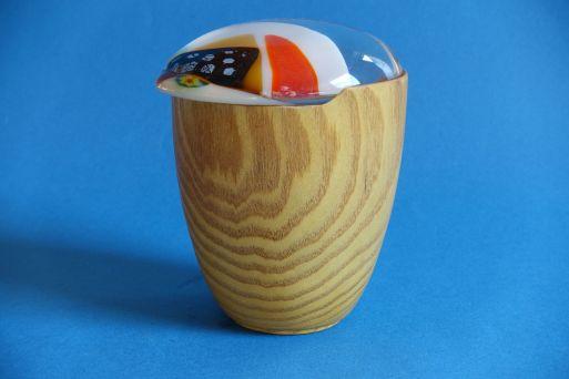 Dose Maulbeere mit Glasdeckel